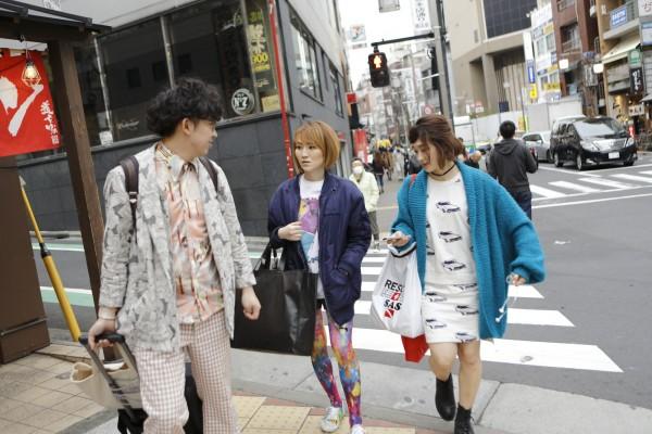 渋谷 対談後の街中にて
